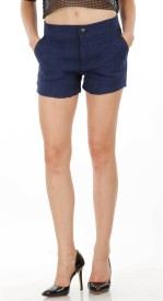 Fuziv Solid Women's Basic Shorts