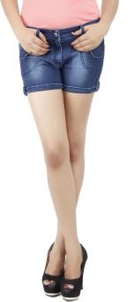 Uber Urban Solid Women's Dark Blue Basic Shorts