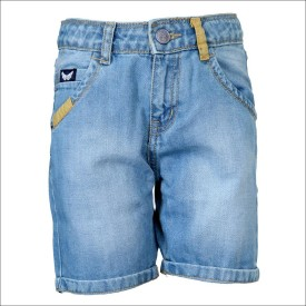 Tales & Stories Solid Boy's Denim Bermuda Shorts