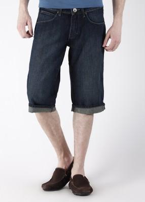 Wrangler Wrangler Solid Men's Shorts (Blue)