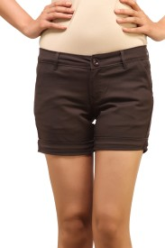 Adam n Eve Solid Women's Basic Shorts