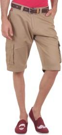 SPORTS 52 WEAR Solid Men's Beige Cargo Shorts