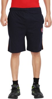 Moonwalker Navy Solid Men's Basic Shorts