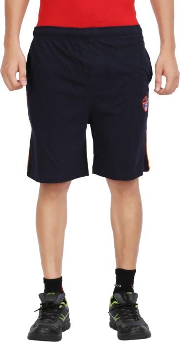 Moonwalker Navy Solid Men's Basic Shorts