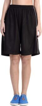 Meebaw Solid Women's Black, Black, Black, Black, Black Gym Shorts