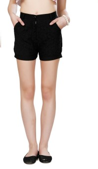 Eavan Ea1116_32 Solid Women's High Waist Shorts