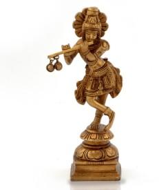 Home India Lord Krishna Pooja Idol in Antique Pure -200 Showpiece  -  15.24 cm