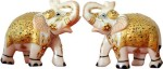 Pooja Creation Marble Pair Elephant With Beautiful Design And Unlimited Color