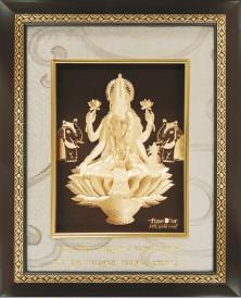 FineDor 24K Gold Leaf Frames Goddess Laxmi Showpiece  -  16 cm