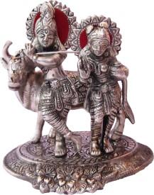 Anamis Radhe Krishna Cow Showpiece  -  14 cm