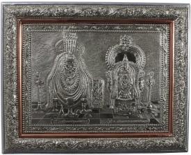 Kapasi Handicrafts German Silver Annamma Malai Wall Piece Showpiece  -  2.5 cm