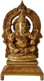 Aakrati Lord Ganesha Sittg Statue On A Throne