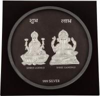 Siri Creations 999 Pure Silver Lakshmi Ganesha Frame Showpiece  -  19 Cm Silver, Silver