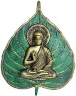 Odishabazaar Metal Patta Buddha Wall Hanging Green color