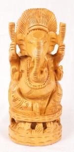 The Nodding Head Wooden Ganesha Big