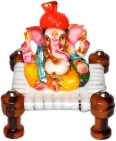 CTW pagdi Ganesha on chowki showpiece Showpiece  -  12 cm