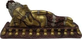 Art N Hub Sleeping Brass Ganesha (size L-20 C.M.) Showpiece  -  8 cm