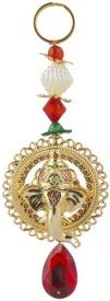 Sukkhi Ganesha Door Hanging In Gold Coloured Alloy Metal Showpiece  -  16 cm