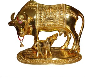 Utsav Handicraft Kamdhenu Cow and Calf Showpiece  -  18 cm
