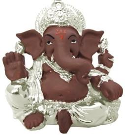 Ghasitaram Gifts LMTK55 Silver Terricota Ganesh Showpiece  -