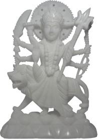 Avinash Handicrafts White Stone Goddess Durga 9 inch Showpiece  -  24 cm