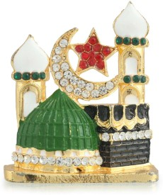 Divine Gifts & Artificial Jewellery Madina Prince Golden Stand Showpiece Showpiece  -  7 cm