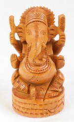 The Nodding Head Wooden Ganesha Small