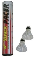 Vinex Pacer Feather Shuttle - White (Pack Of 10)
