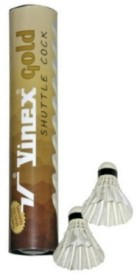 Vinex Gold Feather Shuttle  - White