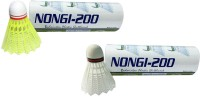 Nongi A1 Plastic Shuttle  - Yellow (Medium, 77, Pack Of 10)