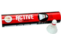 Megaplay Active Feather Shuttle  - White (Medium, 77, Pack Of 10)