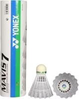 Yonex Mavis 7 Nylon Shuttle  - White (Medium, 77, Pack Of 6)