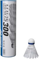 Yonex Mavis 300 (pack Of 6) Nylon Shuttle  - White (slow, 77, Pack Of 6)