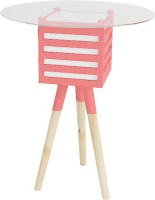 Smalshop Pride Lamp Table Engineered Wood Side Table (Finish Color - Red)