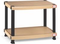 SURPRISE Heavy Duty Rectangle Teapoy Plastic Bedside Table (Finish Color - Beige)