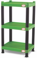 Surprise Heavy Duty Mini Rectangle Shelf Plastic Bedside Table (Finish Color - Green)
