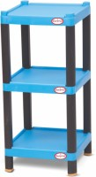 Surprise Heavy Duty Square Shelf Plastic Bedside Table (Finish Color - Blue)