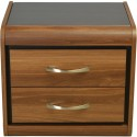 Hometown Archer Night Stand Particle Board Bedside Table (Finish Color - Walnut)