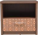 Hometown Nebula Night Stand Particle Board Bedside Table (Finish Color - Coffe Brown)
