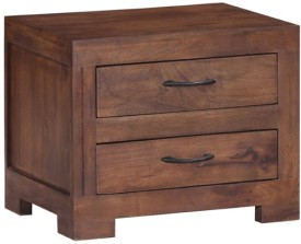 Smart Choice Furniture Rosewood (Sheesham)_JIBS15_Matte finish Solid Wood Bedside Table