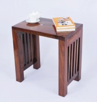 Mubell Dabisk Medium Solid Wood Side Table (Finish Color - Teak Wood Brown)
