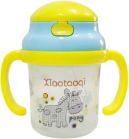 Rachna Baby / Infant 04 PP Water / Juice Training Straw Sipper Cup With Handle - 180ML (Yellow)