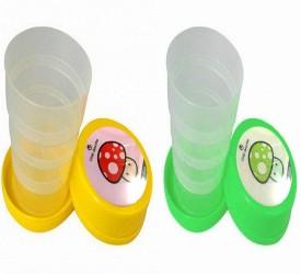 Gadget Bucket Magic Folding Glass Travel Glass for Drinking Water, Juice,