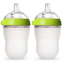 Comotomo Natural Feel Baby Bottle Set - Pack Of 2 Green 8 Oz (Green)