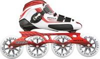 Nivia Velocity In-line Skates - Size 6 UK (White, Red)