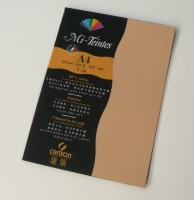 Canson Mi-Teintes A4 Colour Sheets 160gsm - Hemp 374 Sketch Pad (Hemp, 5 Sheets)