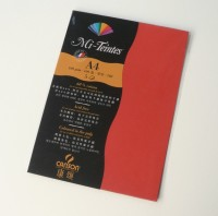 Canson Mi-Teintes A4 Colour Sheets 160gsm - Poppy Red 506 Sketch Pad (Poppy Red, 5 Sheets)