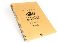 Thinkpot Be The King Of Your Own Jungle Sketch Pad (Brown, 40 Sheets)