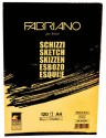 Fabriano Artists' Sketch Glued Block A4 Sketch Pad - White, 120 Sheets