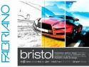 Fabriano Bristol Glued Block A4 Sketch Pad - White, 20 Sheets